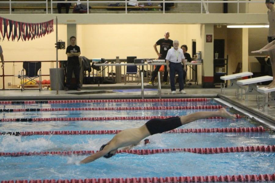 Trinity%27s+Evan+Grimm+anchored+the+400+freestyle+relay+at+New+Albany+High+School+Jan.+13.+