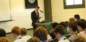 Mr. Parker Lawson '11 spoke with the Class of 2018.
