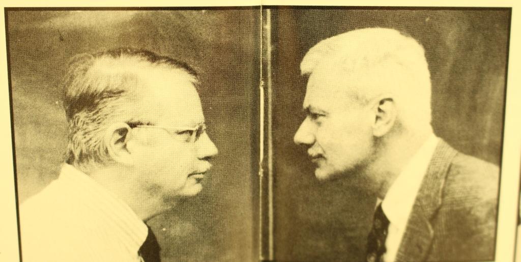 Dr. Tom Zehnder and Mr. Gene Eckert face off in 1997.