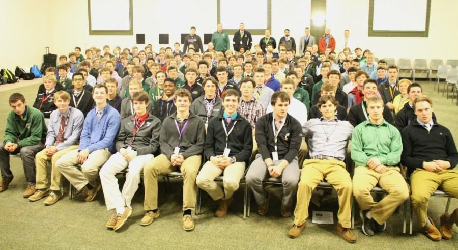 Trinity's spring sports teams spent the afternoon of Mar. 4  engaged in team building and reflection.