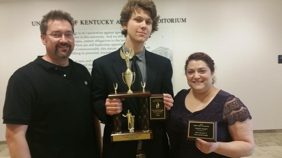 Mr. Randy Perkins (coach), Jacob Romines, Ms. Amy Zuccaro (coach)
