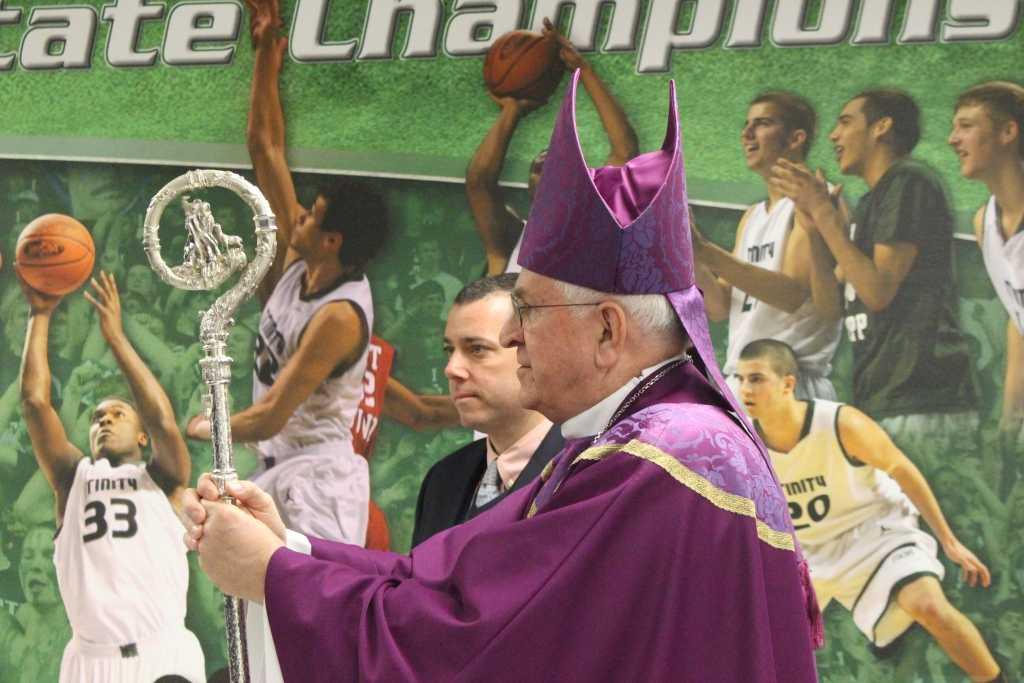 Archbishop Joseph Kurtz celebrated Mass this morning with the entire school.