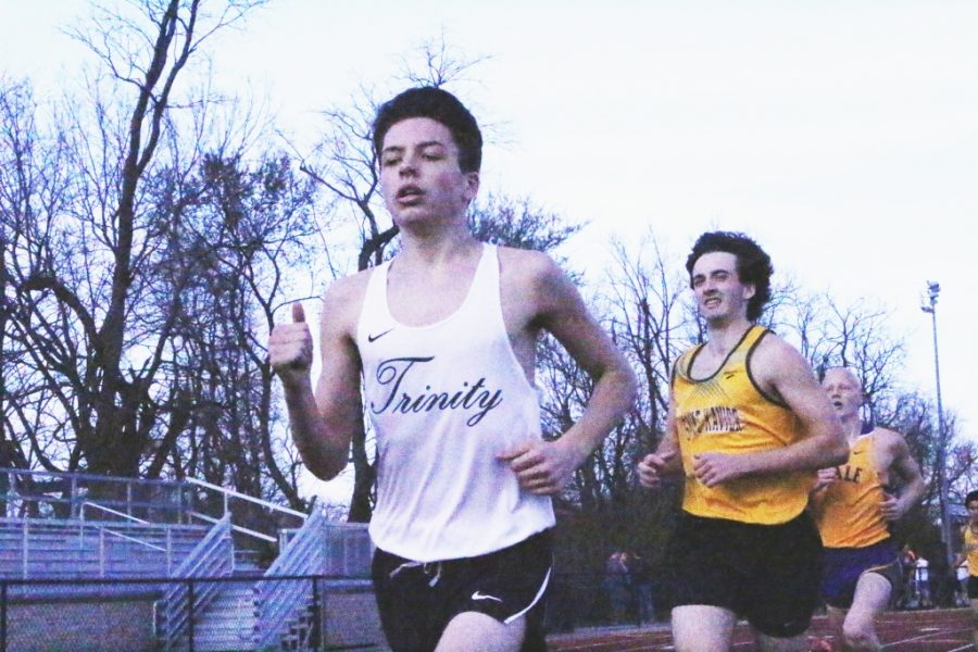 Trinity junior Matt Woodall inspires cross country and track teammates with his dedication.