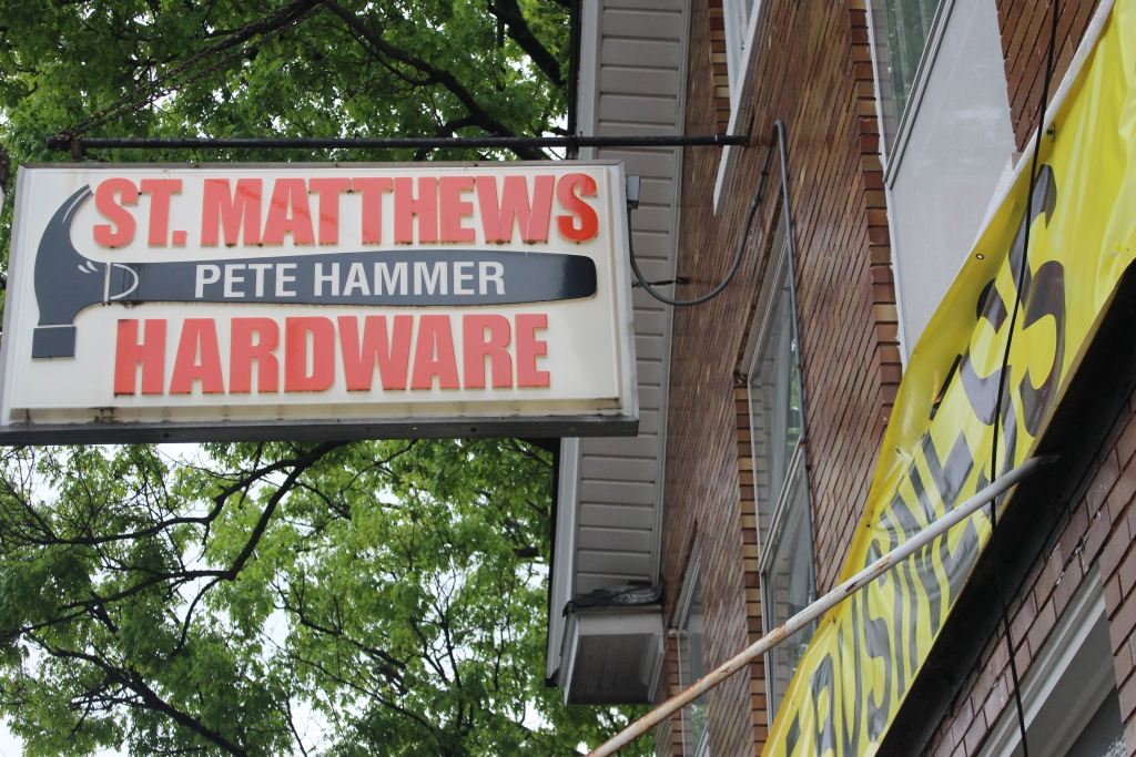 St. Matthews Hardware is going out of business May 31. Owner Mr. Pete Hammer's father, George, bought the store in 1960.