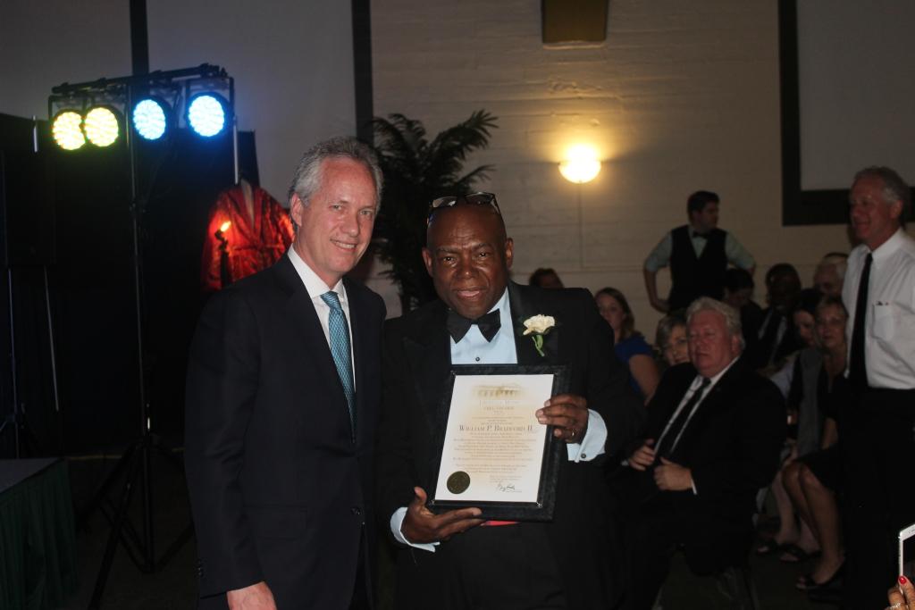 Louisville+Mayor+Greg+Fischer+presented+a+proclamation+honoring+Mr.+Bradford.+