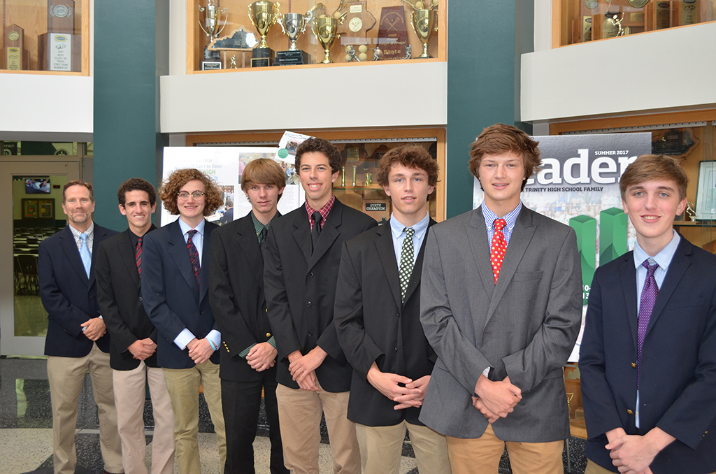 Trinity+Principal+Dan+Zoeller+with+the+seven+National+Merit+Semifinalists%3A++Paul+Passanisi%2C+Nicholas+Thevenin%2C+Dylan+Pike%2C+Eric+Brian%2C+Jonathan+Endicott%2C+Andrew+Warren+and+Mike+McCalpin