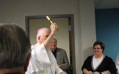 Renovated Technology Center Receives Archbishop's Blessing