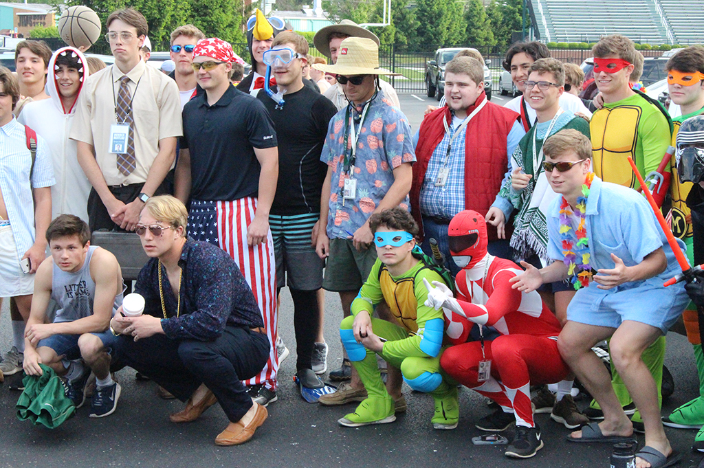 It it's Field Day, it's costume time for seniors.