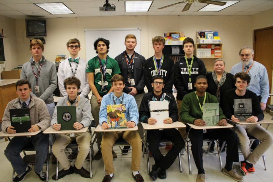 Photo & Online Journalism (Semester 2) Front Row: Jacob Edlin, Jacob Anonson, LC Newton, Bucky Stalker, Robert Lewis, Matt Gadd (independent photographer). Back Row: Richard Gregor, Gus Boyer, Jahvid Nawab, Cole Crush (editor in chief), Grant Brunstetter, Todd Crenshaw, Mrs. Susan Lococo (assistant), Mr. Tony Lococo (adviser/instructor)