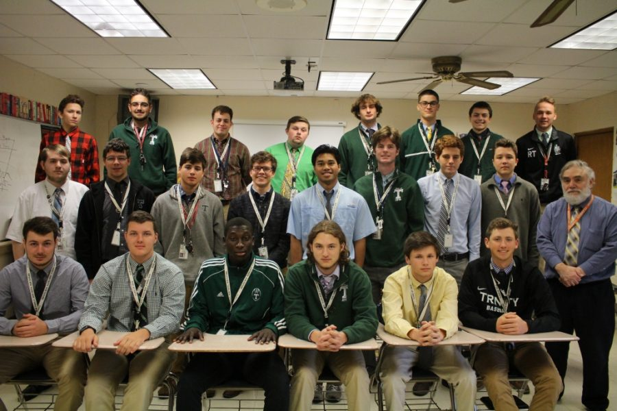 Front Row: John Brewer, Kolby Faust, Modou Sall, Brennan Dahlgren, Logan Ball, Doug Stough. Middle Row: Michael Bush, Spencer Brown, Lance Burnham, Jack Meredith, Jacob Bain, Chase Pomerleau, Greg Russell, Jack Riley, Mr. Tony Lococo (adviser/instructor). Back Row: Conner Smith, Joey Stickler, Sam Roof, Dayton Gohl, Andrew Hayden, Dallas Jenkins, Bennett Clark, Ryan Troutman. Not Pictured: Aaron Mercurio