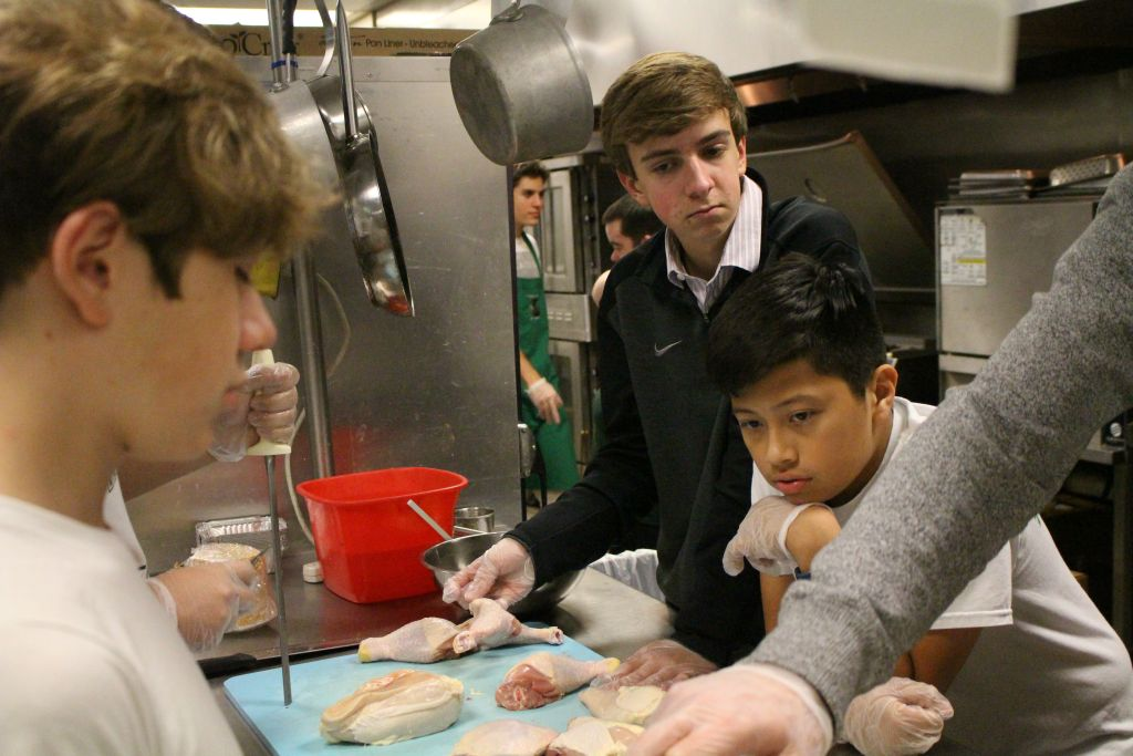 Culinary Club members hone their cooking skills.