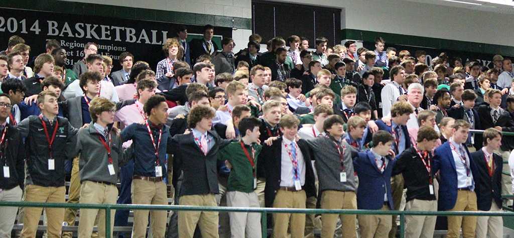 The Rocks sang the alma mater to close this morning's liturgy.