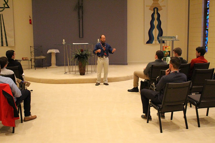 Mr.+Michael+Budniak+speaks+about+his+journey+into+the+Catholic+Church.