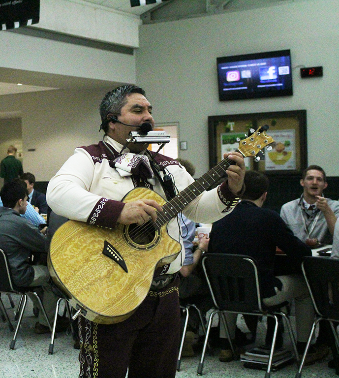 Mariachi music rang out during lunches today.
