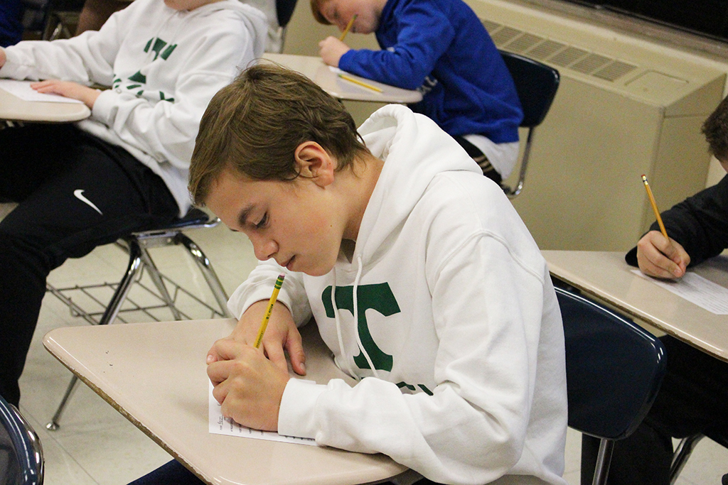 The future is now as Trinity's Class of 2023 takes the Placement Test.