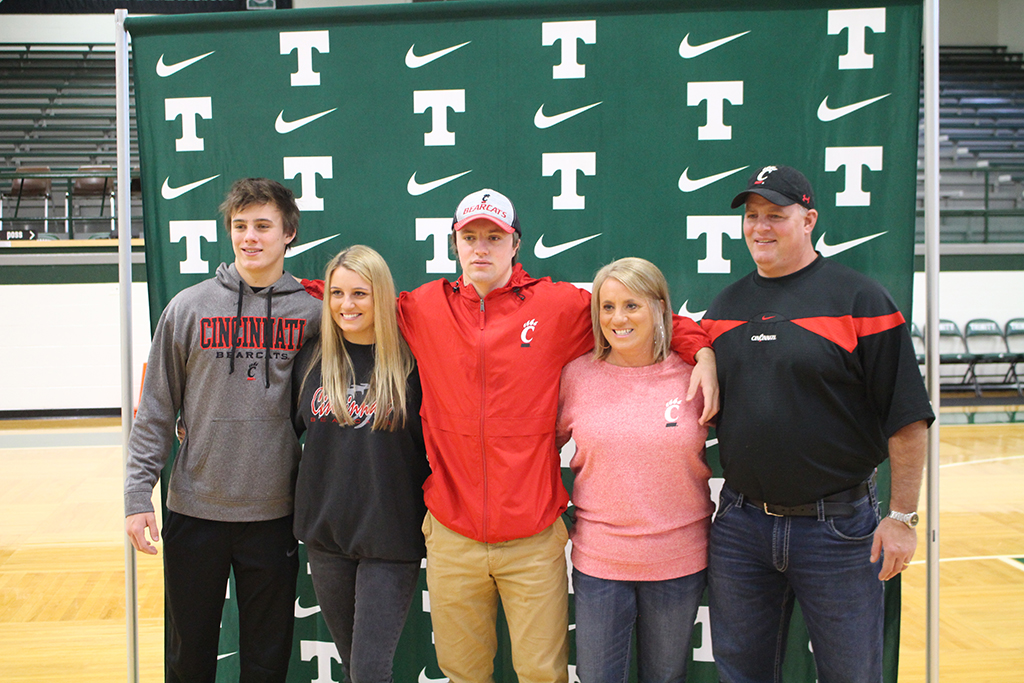 Trinity+student-athletes+Jacob+Dingle+and+Stephen+Herron+signed+letters+of+intent+to+play+football+on+the+next+level.