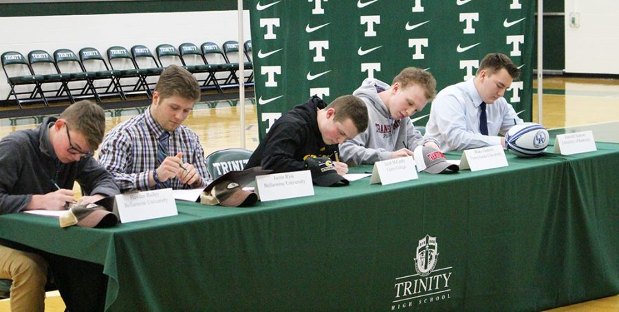Five+Shamrocks+signed+letters+of+intent+to+take+their+athletic+talents+to+the+next+level.