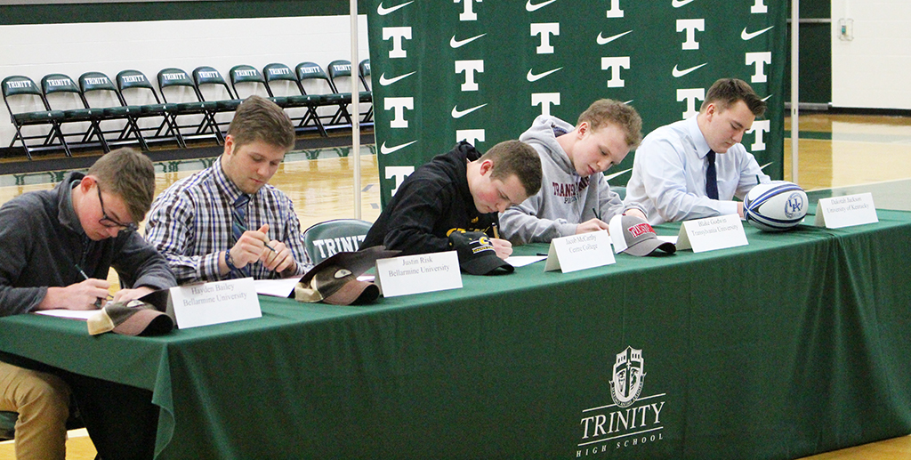 Five Shamrocks signed letters of intent to take their athletic talents to the next level.