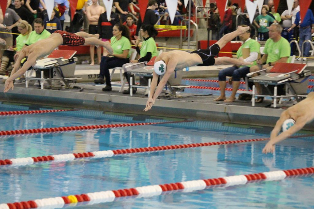 Trinity senior Hunter Tapp set two records -- in the 50 and 100 freestyle --  in the state meet.