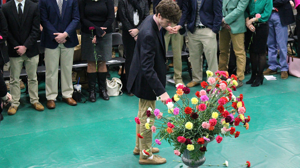 Trinity's annual Mother-Son Mass took place Mar. 3 in Steinhauser Gymnasium.