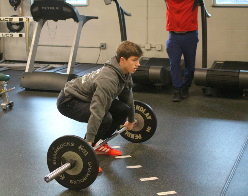 Trinity+barbell+team+member+and+junior+Patrick+Owens.+
