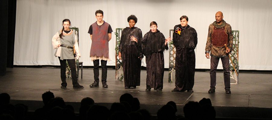 Actors+from+the+Kentucky+Shakespeare+Festival+performed+%22Macbeth%22+at+Trinity+Apr.+9.+