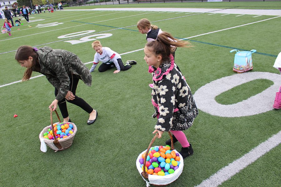 Eggs+aplenty+at+the+annual+Easter+Egg+Hunt%2C+held+Apr.+13+at+Marshall+Stadium.+