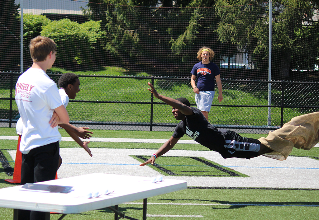 Competition was fierce during the annual House Obstacle Course.