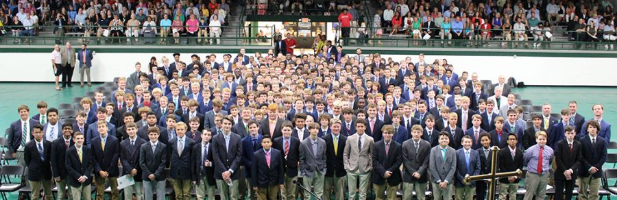 The+Class+of+2023+attended+the+seventh+annual+Freshman+Academic+Convocation+Aug.+14+in+Steinhauser+Gymnasium.+