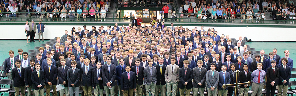 The Class of 2023 attended the seventh annual Freshman Academic Convocation Aug. 14 in Steinhauser Gymnasium.