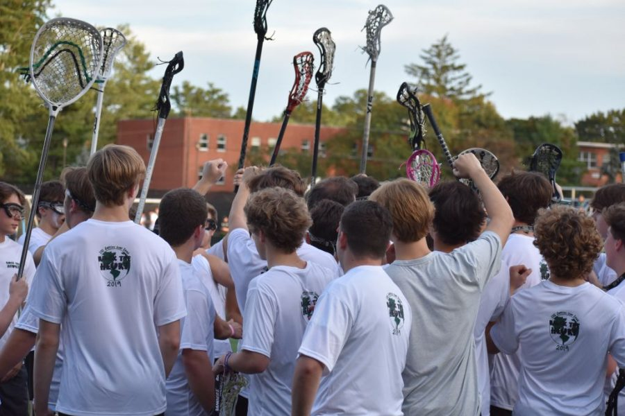 Trinity+and+Sacred+Heart+played+a+friendly+lacrosse+game+to+raise+money+for+Supplies+Over+Seas.