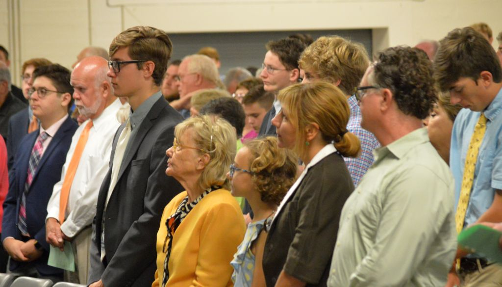 Trinity Chaplain Fr. Dave Zettel '58 presided at the annual Grandparents Mass Sept. 8.