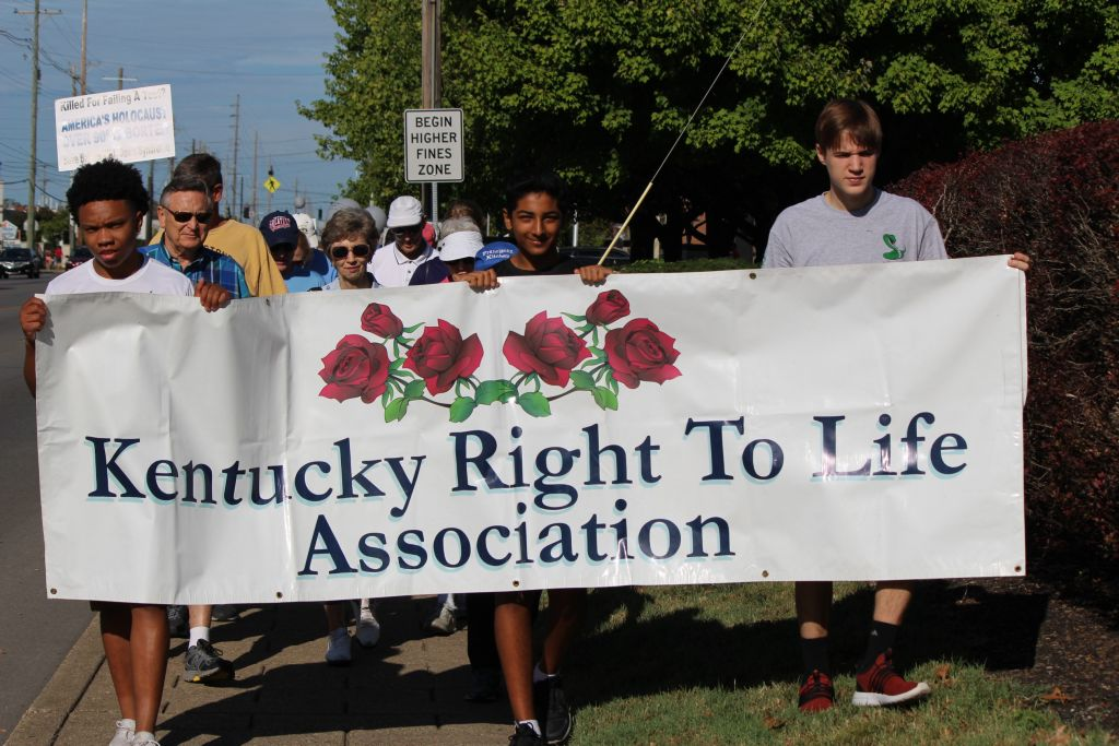 The Walk for Life, held Sept. 14, began at 10 a.m. at Trinity.
