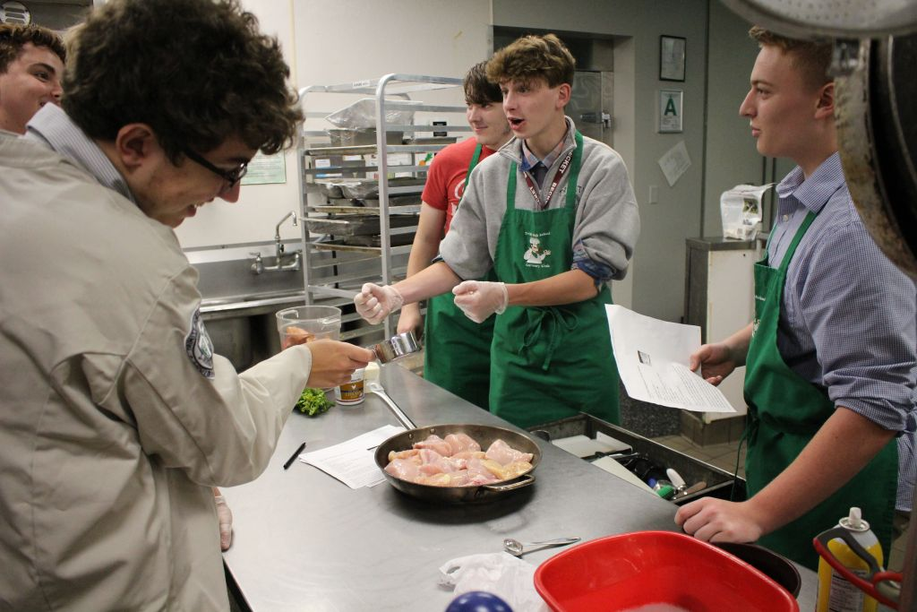 Trinity's Culinary Club teaches the art of preparing delicious meals.