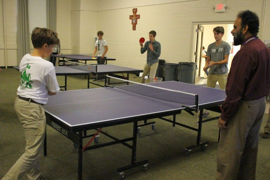 Trinity%27s+ping-pong+players+put+in+some+practice+time.+