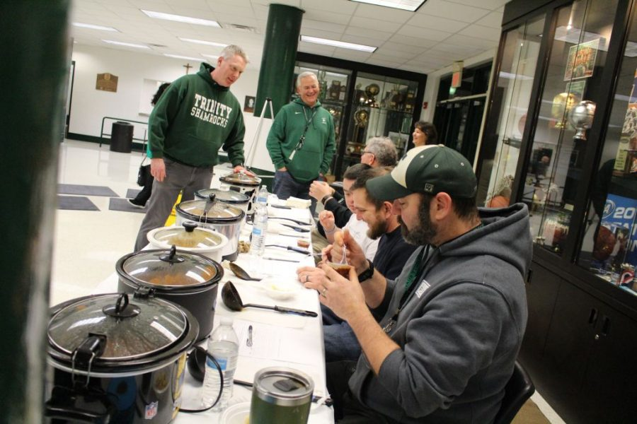 Flannan House, Toussaint House and Dante House placed one, two, three in the Chili Cook-off on Jan. 24.