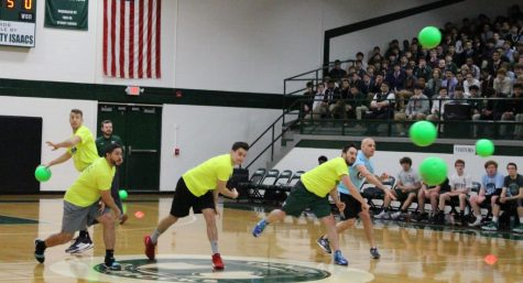 Dodgeball did not go well for the faculty, who defeated the students 39-29 in basketball.