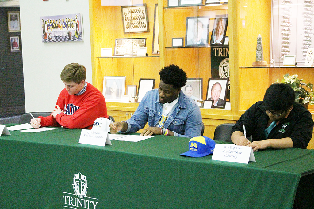 Sam Lewis, Tyler Roberson and Will Epperson sign to play their sports on the collegiate level.