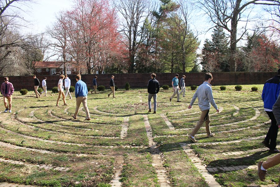 Students in Mr. Scott Holzknecht's classes walked the labyrinth Mar. 12 and 13.