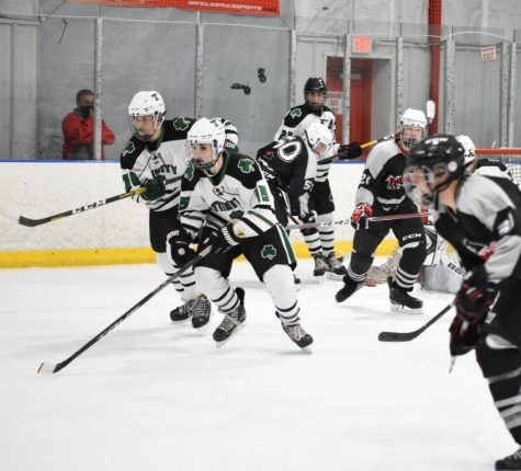 The ice hockey Rocks racked up two road wins by a combined 14-2 score.