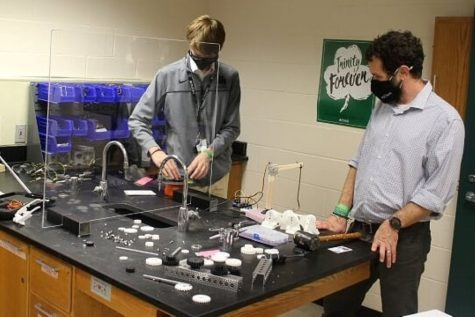 The STEM Club explores the disciplines of science, technology, engineering and mathematics.