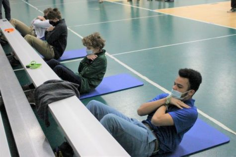 The House Sit-Ups Challenge took place last Tuesday and Friday in Shamrock Gym.