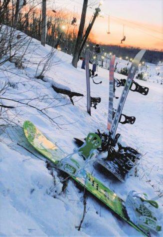 Senior Peter Nugyen and friends hit the slopes.