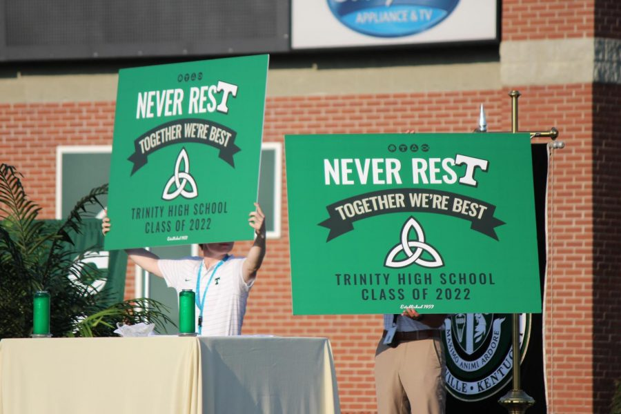 Opening Mass was held Aug. 27 in Marshall Stadium. The year's theme and poster were revealed during the Mass.