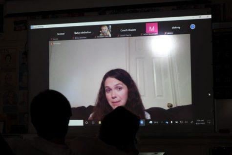 Author Jennifer Lynn Barnes spoke with Trinity students and teachers today via Zoom.